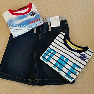 Other - NWT Boys Size 8 Shirts with Size 7 Denim Shorts